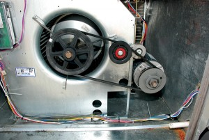 Photo: Fenner Drives. In the field, belt drives are not optimally designed, nor well maintained. In these systems, installing a T-Max Belt Tensioner can result in significant energy savings.