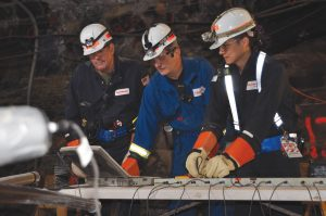 """""""Researchers measure voltages in an Electrofrac oil shale heating experiment at ExxonMobil's Colony Mine in Colorado."""""""